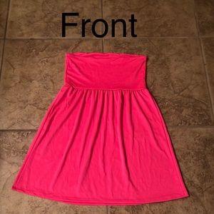 OP swim strapless coverup dress